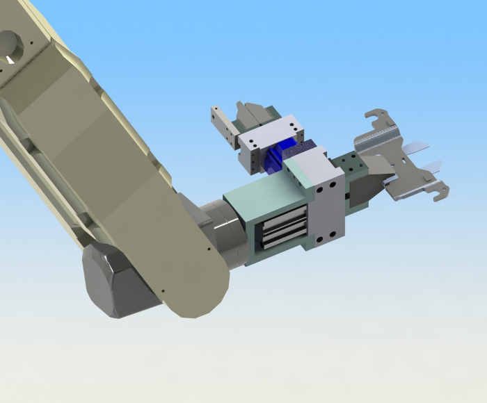 Design for robotic hand with two PPE clamps