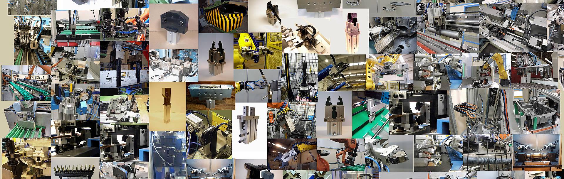 Variedad de pinzas para aplicaciones industriales